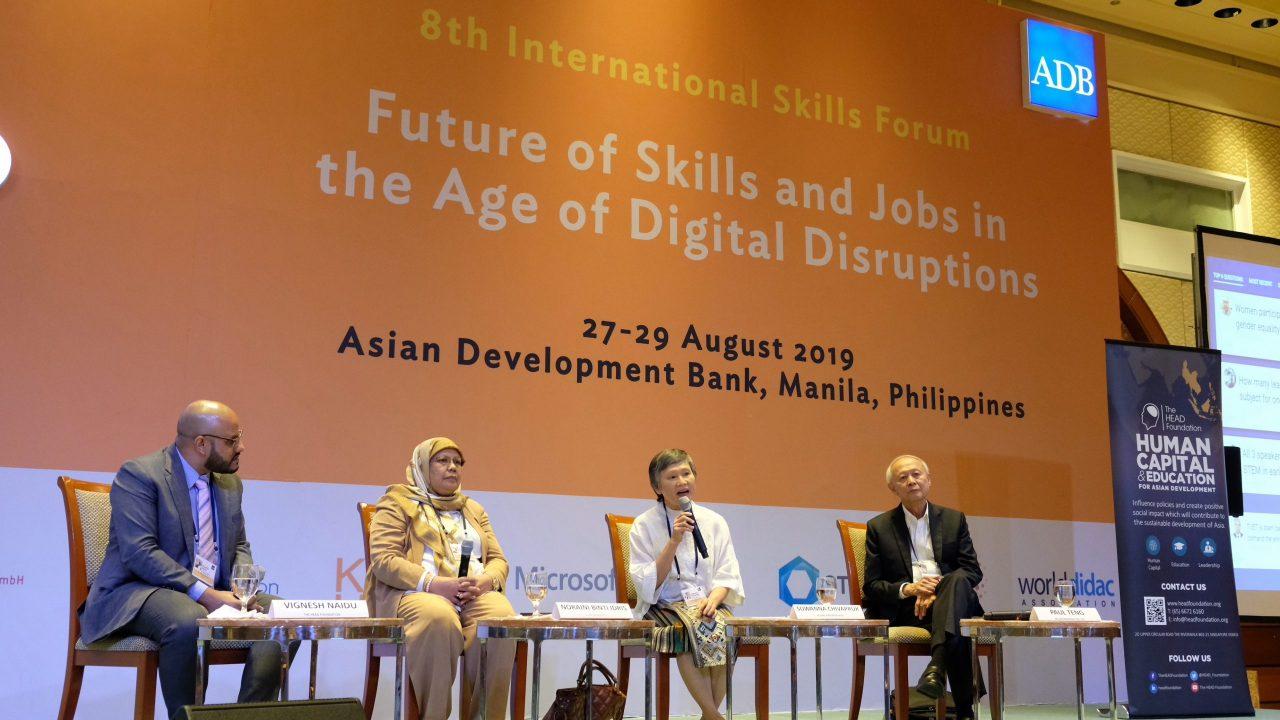ADB Forum - Preparing the future workforce The HEAD Foundation discusses STEM education in K-12 at the 8th ADB International Skills Forum